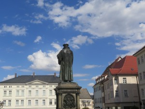 Martin Luther on the marketplace of Eisleben
